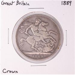 1889 Great Britain Crown Silver Coin