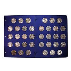 Complete 1948-1963 Franklin Half Dollar Set
