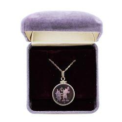 1987 Disney Charm Bracelet Steamboat Willie 1/10 oz .999 Fine Silver Medal w/Box