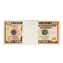 Pack of (100) Consecutive 2004A $10 Federal Reserve STAR Notes
