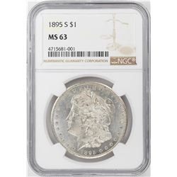 1895-S $1 Morgan Silver Dollar Coin NGC MS63