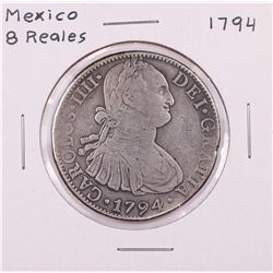 1794 Mexico 8 Reales Silver Coin