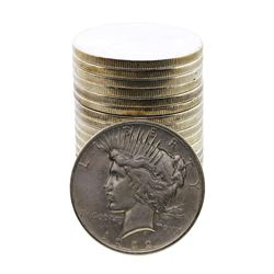 Roll of (20) 1922-D $1 Peace Silver Dollar Coins