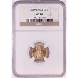 2010 $5 American Gold Eagle Coin NGC MS70