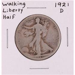 1921-D Walking Liberty Half Dollar Coin
