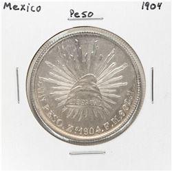 1904 Mexico Peso Silver Coin