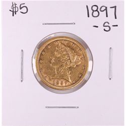 1897-S $5 Liberty Head Half Eagle Gold Coin
