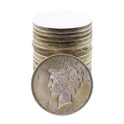 Roll of (20) Assorted Date $1 Peace Silver Dollar Coins
