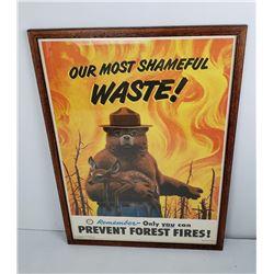 Original 1949 US Forest Service Smokey Bear Poster
