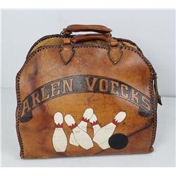 Hand Tooled Leather Bowling Bag Oklahoma 1958