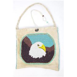 Montana Indian Beaded Eagle Purse Flat Bag