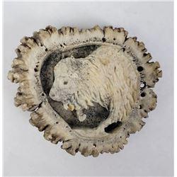 Montana Elk Horn Belt Buckle Buffalo Carved