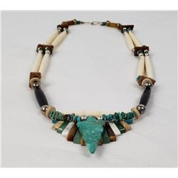 Navajo Hair Pipe Turquoise Gemstone Necklace