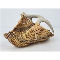 Washington Indian Made Antler Gathering Basket