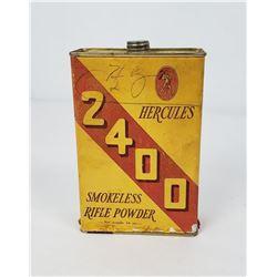 Antique Hercules 2400 Smokeless Rifle Powder Tin
