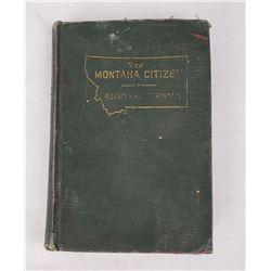 The Montana Citizen Renne Hoffman 1940 Book