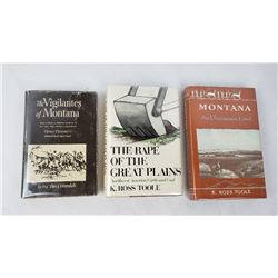 3 Montana Books K Ross Toole Thomas Dimsdale