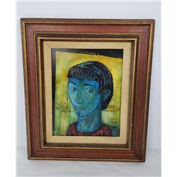 Charles Malcolm Campbell The Blue Woman Painting