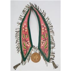 Montana Indian George Washington Peace Medal Sash