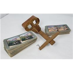 Antique Stereoviewer and Cards