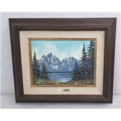 Keith Fay Grand Tetons Oil on Canvas Painting