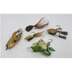 Lot of Antique Frog Fishing Lures