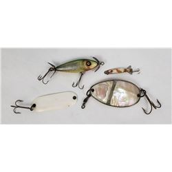 Lot of Antique Abalone Fishing Lures