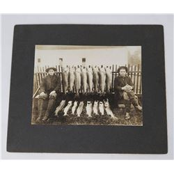 Antique Photo of Pacific Salmon Fishing Trip