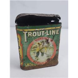 Antique Trout Line Fly Fishing Tobacco Tin