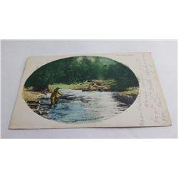 Fishing the Rattlesnake Missoula Montana Postcard