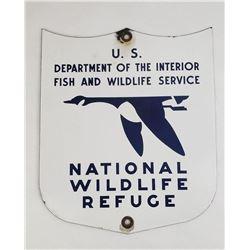 Montana National Wildlife Refuge Porcelain Sign