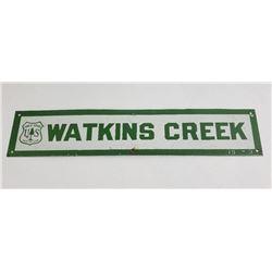 Montana Forest Service Watkins Creek Sign