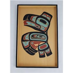 Haida Northwest Coast Bent Wood Ron Powers Raven