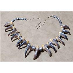 Navajo Black Bear Claw Trophy Necklace