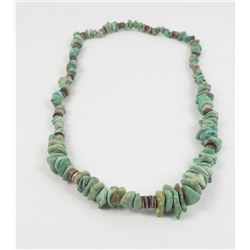 Navajo Turquoise Nugget and Heishi Necklace