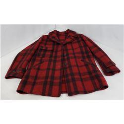 Vtg Soo Woolen Mills Red Wool Hunting Jacket