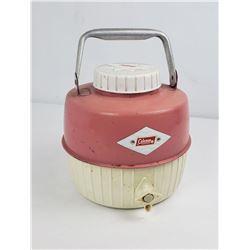 Vintage Pink Diamond Coleman Water Cooler