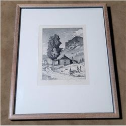Lyman Byxbe Etching In the Canyon