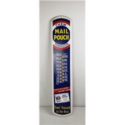 Mail Pouch Tobacco Advertising Thermometer
