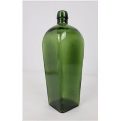 Forest Green Ribbed Case Gin Bottle