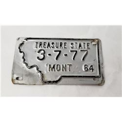 Montana 1964 Bicycle License Plate