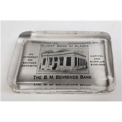 Alaska Bank Advertising Paperweight Juno