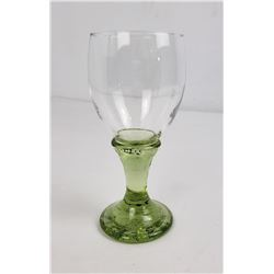 Fire & Light Recycled Glass Olive Wine Goblet