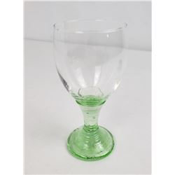 Fire & Light Recycled Glass Celery Wine Goblet