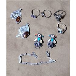 Lot of Sterling Silver and Gemstone Jewelry