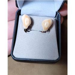 Montana Bull Elk Teeth Earrings