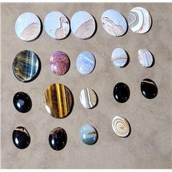 590 Carats of Various Gemstone Cabochons