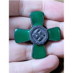 WW2 German Green Enamel Cross Nazi Badge