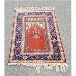 "Antique Anatolian Turkish Prayer Rug 35"" by 60"""