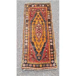 "Afghan Baluch Persian Diamond Rug 19"" by 45"""